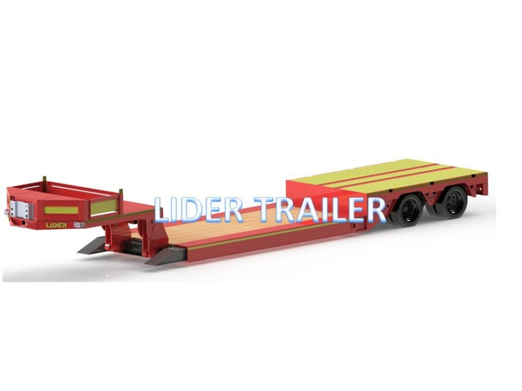 Front loading semi low loader