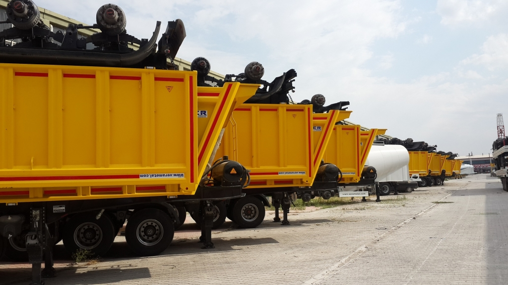 Rock tipper semi trailers