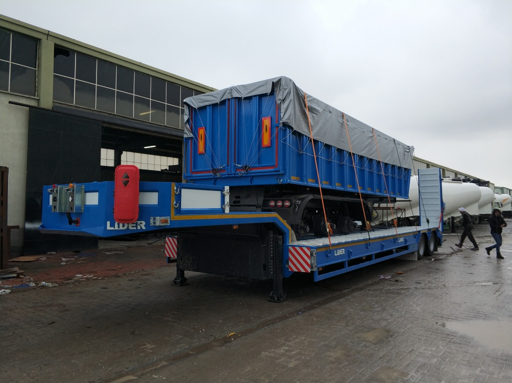 2 axle Lowbed semi trailers